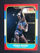 1986-87 Fleer #122 Gerald Wilkins New York Knicks Rookie RC Basketball Card - $4.50
