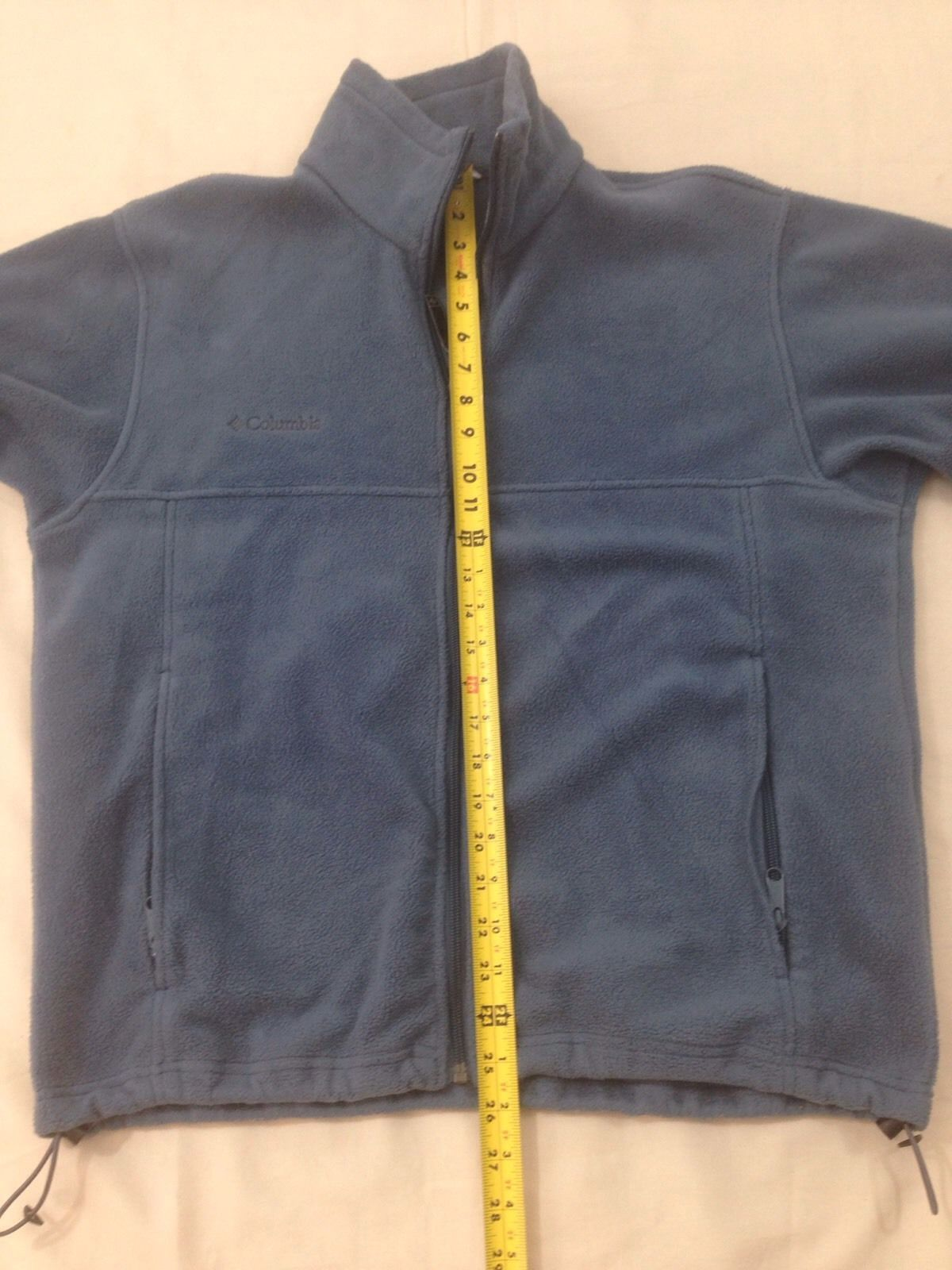 Columbia Mens M Dusty Blue Hiking Camp Lightweight Zip Front Fleece Jacket image 7