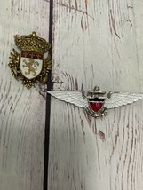 2 Coro Shield Of Arms And Navy Style Brooches - $49.50