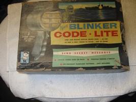 RARE Vintage Hasbro Twin Toy Navy Blinker Morse Code Lite in Original Box - $44.55