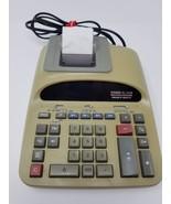 Casio DL-220B Calculator Printer 12 digit 2 color Vintage Heavy Duty - $9.89
