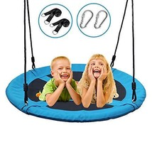 Dooke 700 lb 40 Inch Saucer Tree Swing for Kids Adult 900D Oxford with W... - $101.99