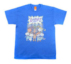 New Nickelodeon Rugrats Adult 90s Cartoon Classic Blue Cotton T-shirt - $15.15+