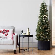 7.5ft Pre-lit Artificial Christmas Tree Slim Virginia Pine with Clear Lights NIB image 5