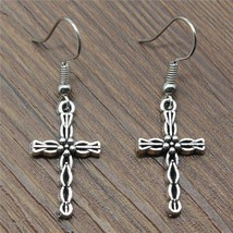 Cross Drop Earrings Female Cross Fashion Woman Earrings 2018 Cross Earri... - $12.90