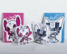 TOKYO 2020 Olympic Paralympic Games Mascot Character 2 Plush Doll & Post... - $42.45