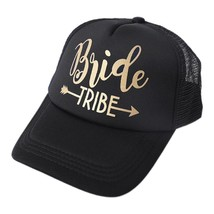 Free delivery Bride Tribe Snapback Trucker Mesh Hat Gold Letters Arrow W... - $9.76