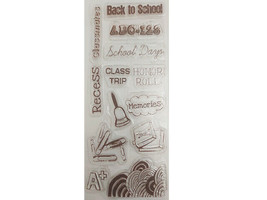 Back to School Clear Cling Stamp Set