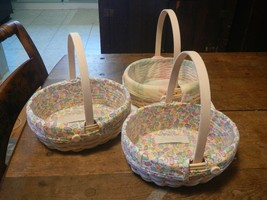 Lot of 3 Longaberger 2002 Edition Small Easter Baskets - $29.40