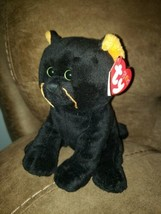 """NEW Ty Pluffies Onyx 6"""" Plush Black Cat Hard 2 Find - $56.06"""