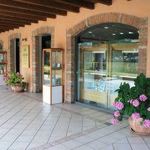 18K ROSE & WHITE GOLD BRACELET SMOOTH BRIGHT DAISY FLOWER, MARINER LINK, ITALY image 5
