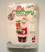 Jiffy Christmas Ornament Kit Gifts From Santa Crewel Embroidery Vintage  - $19.30