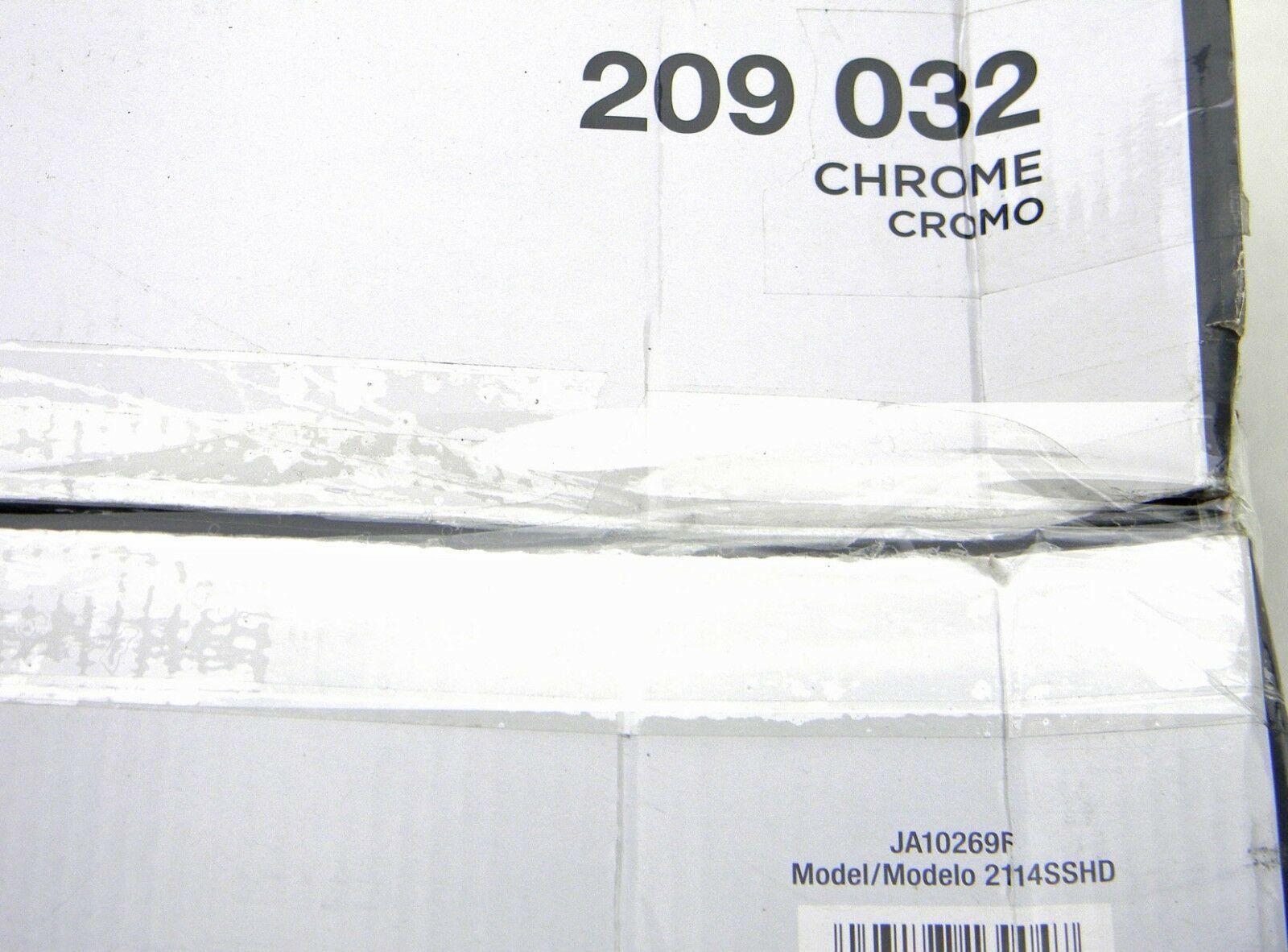 New Glacier Bay 2114SSHD Tension-Mount 4 Shelf Pole Shower Caddy 209032 Chrome