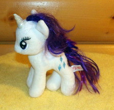 "Hasbro TY My Little Pony White RARITY 8"" Plush Needs PlayMate - $4.69"