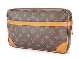 Authentic LOUIS VUITTON Compiegne 28 GM Monogram Pochette Clutch Bag #34112 - $239.00