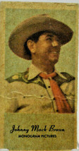 Movie Star Picture Card Engrav-O-Tints Portraits 1959 Johnny Mack Brown - $14.50
