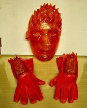 2005 Fantastic4- The Torch- Plastic Mask & Gloves - $17.81