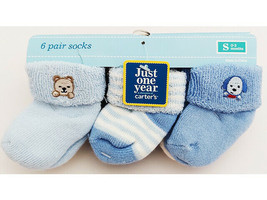 Carter's Just One Year Blue Baby Socks, Size 0-3 Months