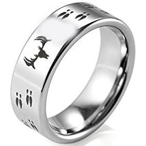 coi Jewelry Titanium Deer Track Wedding Band Ring-108 - $69.99