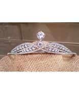Luxury Cubic Zirconia Bridal , Wedding Silver Plated Tiara - $24.50