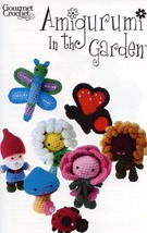 Amigurumi In The Garden Butterfly Gnome Rose Gourmet Crochet Pattern Leaflet - $8.07