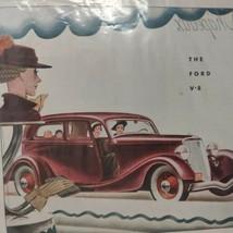 1934 Ford V8 2 Door Sedan Magazine Ad Mother's & Children - $26.13