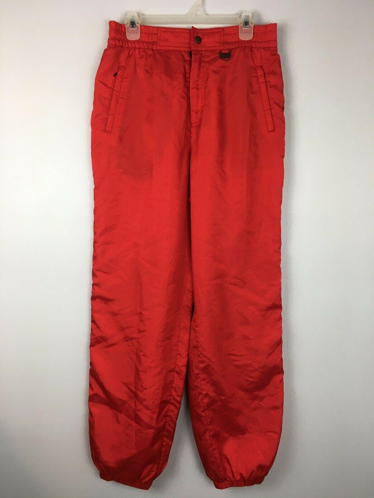 Nils Women's Red Vintage Snowsuit Ski Snow Board Pants Size 16