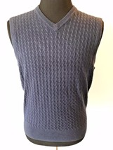 Dockers Dark Blue Easy Care Comfort Touch Mens Sweater Vest size M NWT $... - $19.95