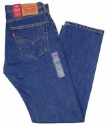 NWT Levi's 40x34 505 Regular Fit Dark Stonewash Zip Fly Jeans    - $101.68