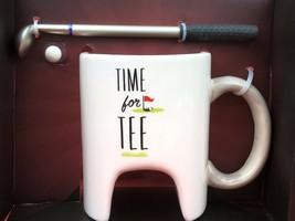 Happy Hour Time For Tee Golf Coffee Mug Ball Club Pen New Gift - $11.30