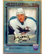 2006-07 Be A Player Autographs #208 Matt Carle - $32.61