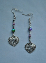 Heart Dangle Earrings - $7.00