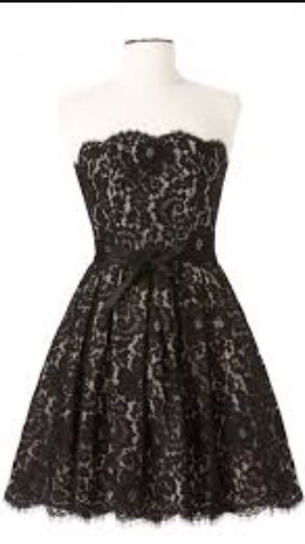 NWT Robert Rodriguez Target Neiman Marcus Black Strapless Lace Dress Size 14