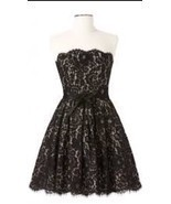 NWT Robert Rodriguez Target Neiman Marcus Black Strapless Lace Dress Siz... - $35.99