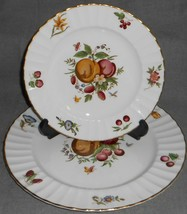 Set (2) Royal Worcester DELECTA PATTERN Dinner/Salad Plate MADE IN ENGLAND - $39.59