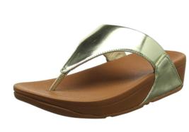 FitFlop LULU Toe Thong Sandal - GOLD Mirror US 9  EU 41 - $38.79