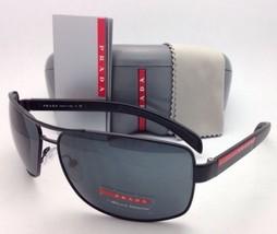 Nuevo Auténtico Prada Gafas de Sol Sps 54I 1BO-1A1 65-14 Negro Mate con ... - $275.78