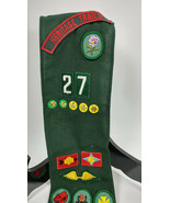Girl Scout Sash with 17 Badges and 5 Pins Heritage Trails Vintage 1960's - $35.68