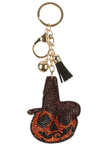 Holiday Tassel Crystal Pillow Key Chain Handbag Charm (Jack - O - Lantern)
