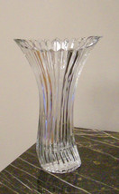Mikasa Crystal Diamond Fire Curved Vase NEW.Made in Japan - $19.30