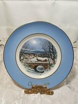 Avon 1979 Christmas Plate Series Dashing Through The Snow Enoch Wedgwood England