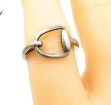 925 Sterling Silver - Vintage Dark Tone Open Designed Band Ring Sz 6 - R... - $22.41