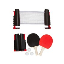 Anywhere Table Tennis Set with Paddles and Balls Red NEW! - $21.87