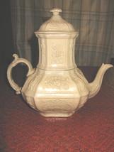 Antique English Drabware Teapot w/strainer, ca.1820, (4 pieces) - $1,500.00