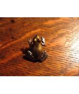 Jonette Jewelry Frog Pin - Vintage JJ Toad Amphibian Herpetology Metal L... - $19.79