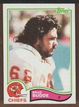 BRAD BUDDE 1982 TOPPS KANSAS CITY CHIEFS R/C #111 CARD IS EX++ - $1.85