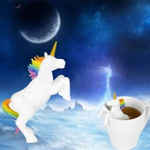 Tea Infuser Silicone Unicorn Shaped Loose Filter Strainer Reusable Diffu... - £6.89 GBP