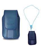 Around the neck blue hanging case and lanyard fits Alcatel Jitterbug Flip - $19.99