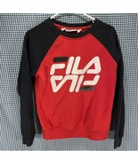 Vintage Fila Spellout Sweatshirt Men's Size Small  - $9.89