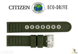 Citizen Eco-Drive BM8180-03E 18mm Green Cloth Nylon LONG Watch Band S006597 - $47.65